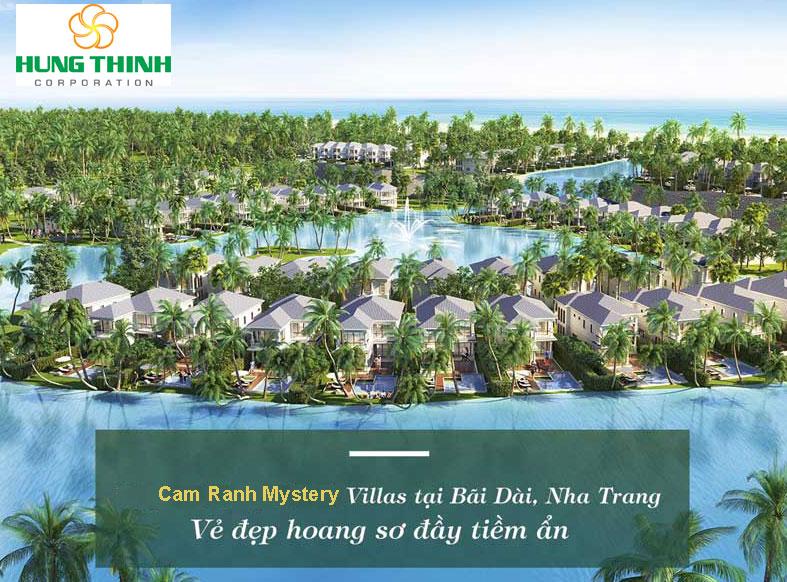 Vẽ đẹp tổng thể quy hoạch biệt thự Mystery Hưng Thịnh Cam Ranh