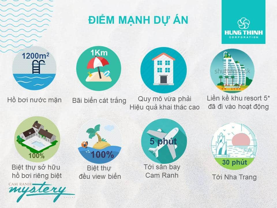 Điểm mạnh dự án Cam Ranh Mystery Villas