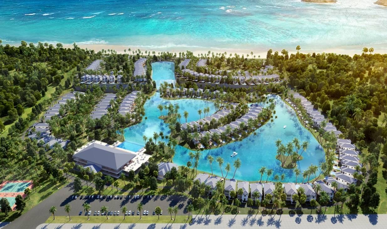 Dự án VINPEARL LONG BEACH RESORT & VILLAS (VINPEARL BÃI DÀI), Vị trí: Lô D6b2, D7a1, thuộc khu 2 – KDL Bắc bán đảo Cam Ranh, Giá từ 11 – 22 tỷ/căn (40 – 52tr/m2)