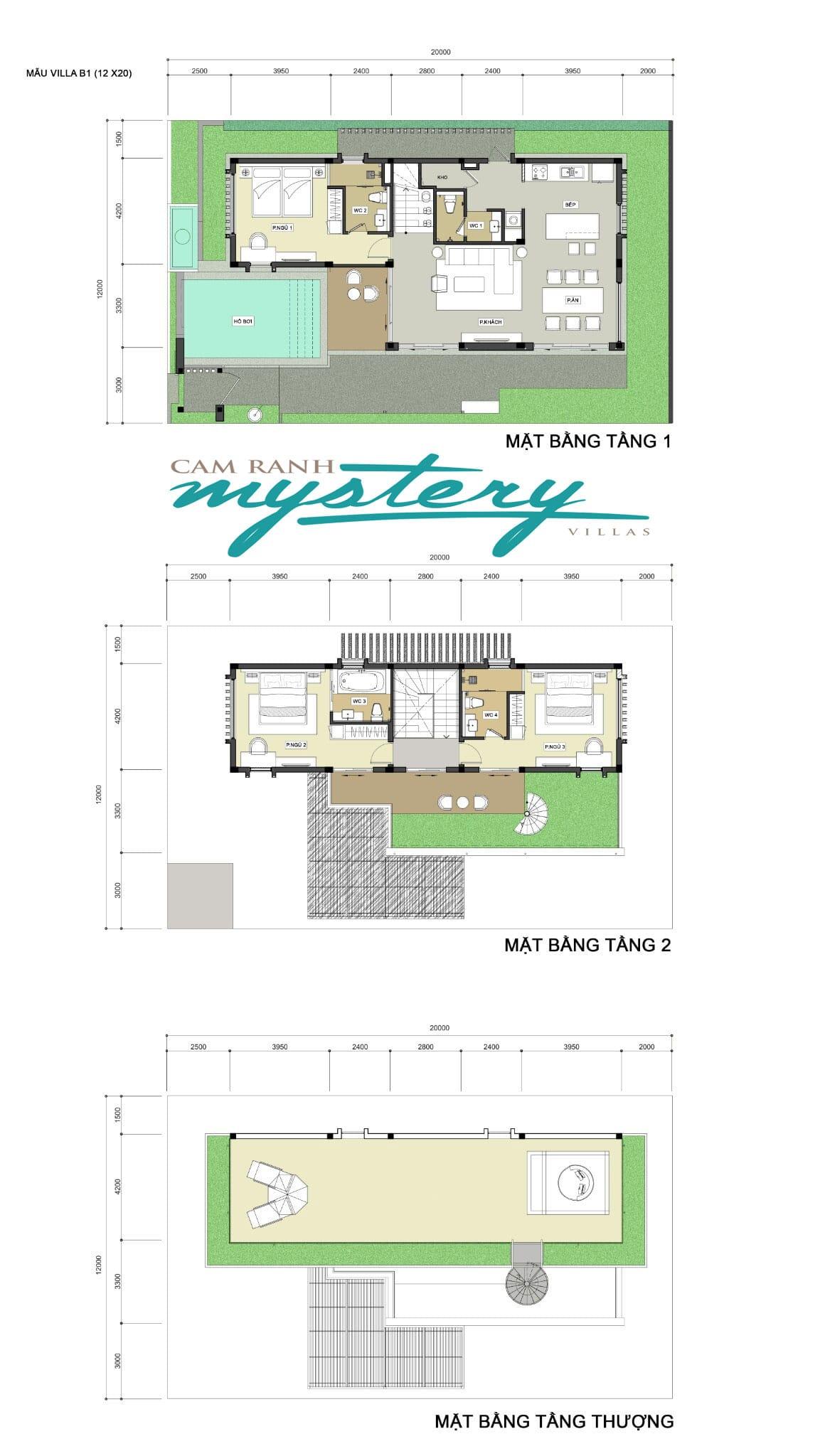 Thiết kế mẫu biệt thự Cam Ranh Mystery Villas