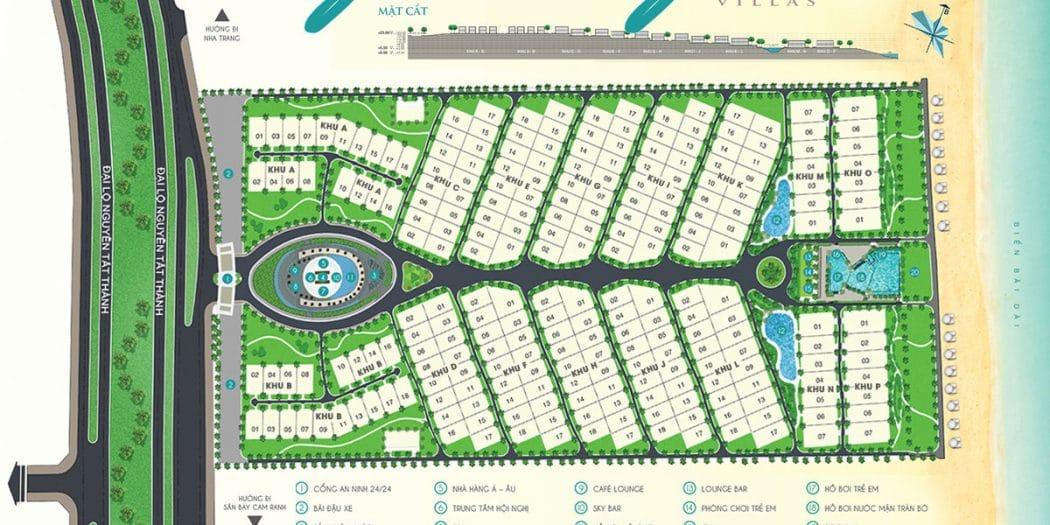 Mặt bằng tổng thể dự án biệt thự Cam Ranh Mystery