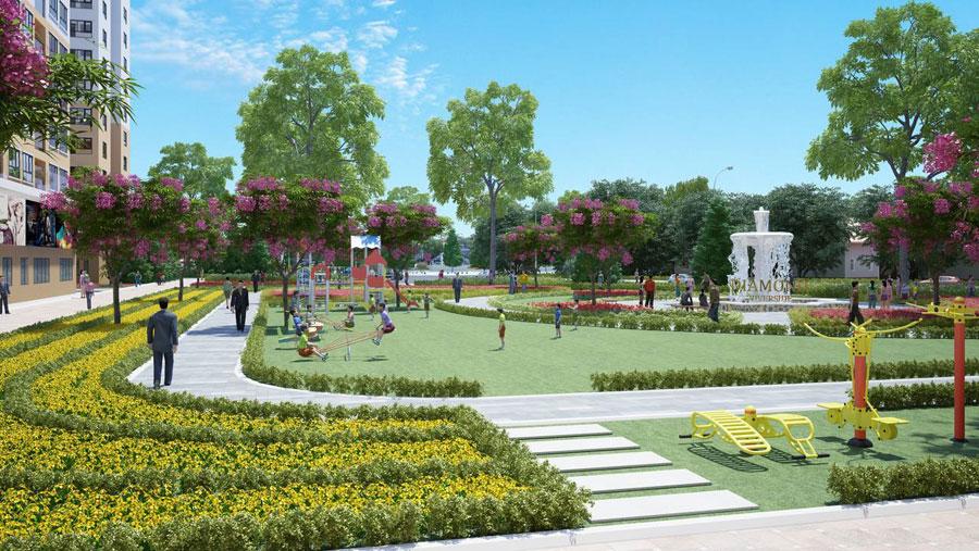 công viên nội khu căn hộ kingdom 101