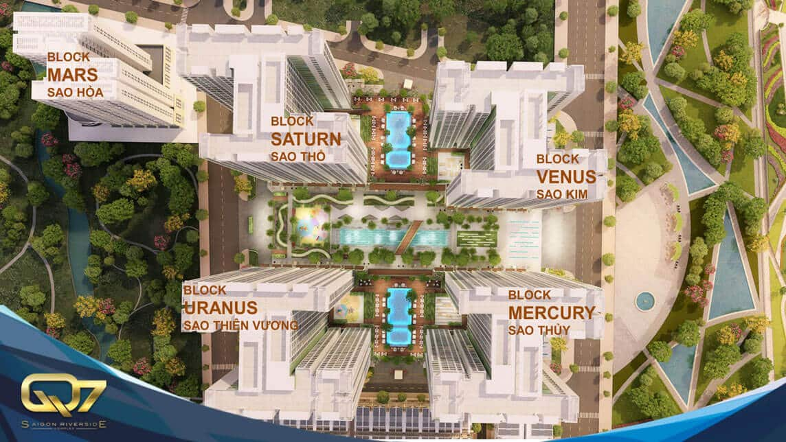 Mặt bằng căn hộ Q7 Saigon Riverside Complex