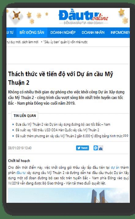 Khởi công cầu Mỹ Thuận 2