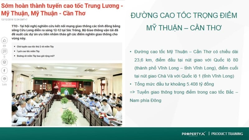 Thông tin Quy hoạch đường cao tốc Mỹ Thuận – Cần Thơ