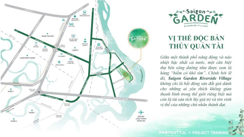 Vị trí dự án Saigon Garden Riverside Village