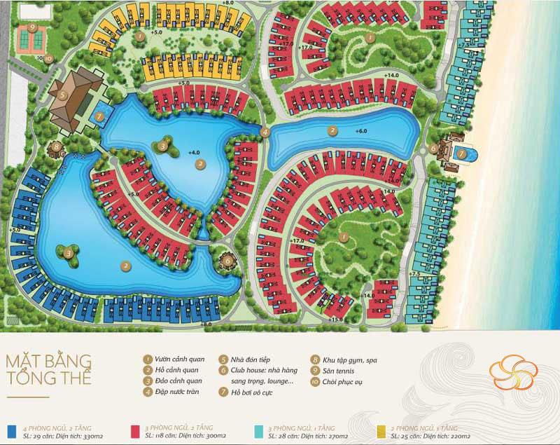 Mặt bằng tổng thể dự án đất nền biệt thự nghĩ dưỡng Mystery Villas Hưng Thịnh
