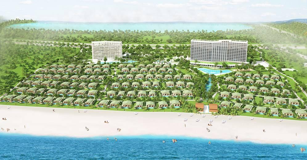 Dự án MOVENPICK CAM RANH RESORT tại Lô D12a, D12b, D12c, thuộc khu 4 – KDL Bắc bán đảo Cam Ranh, Giá từ 17 – 27 tỷ/căn (40 – 55tr/m2)