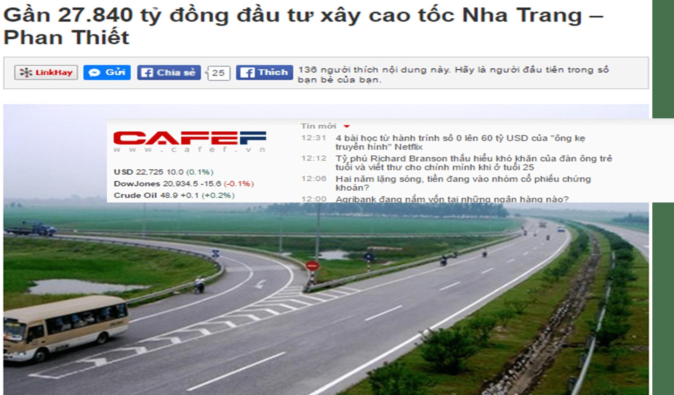 Kết nối giao thông tuyến cao tốc Bắc-Nam