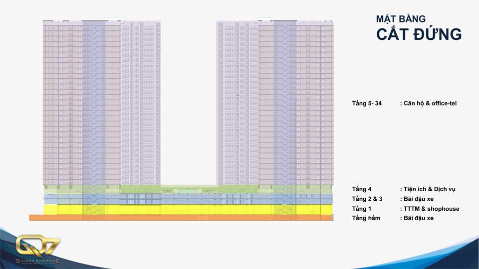 Mặt cắt căn hộ q7 Saigon Riverside