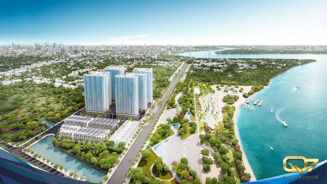 Phối cảnh căn hộ Q7 Saigon Riverside Complex