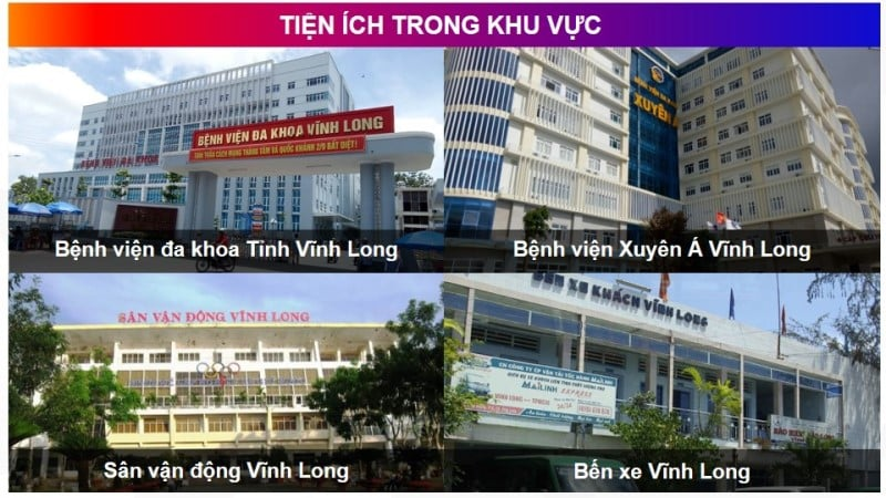 Tiện ích dự án Vĩnh Long New Town