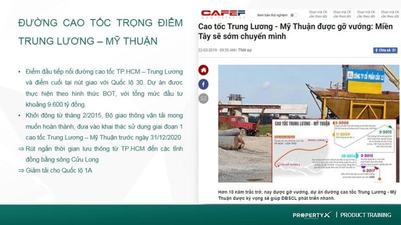 Thông tin Quy hoạch đường cao tốc Trung Lương – Mỹ Thuận