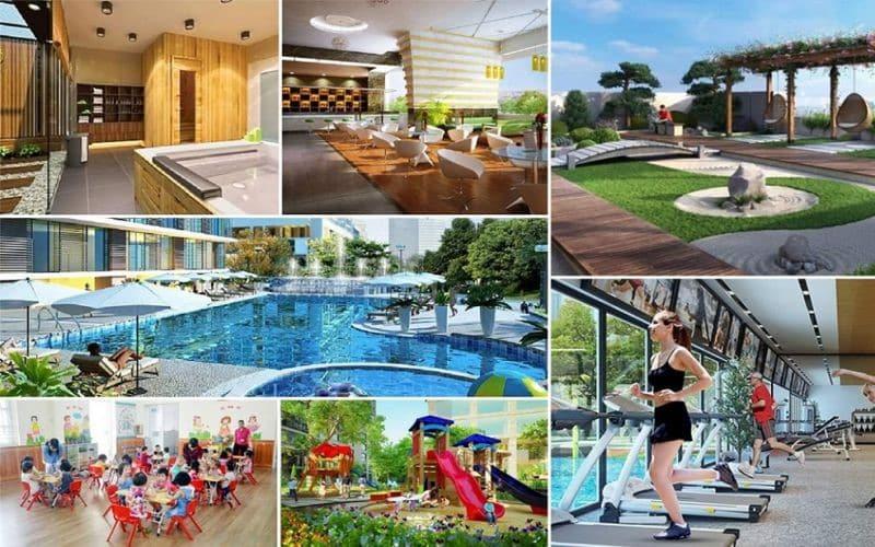Tiện ích hấp dẫn nội khu của biệt thự Hà Đô Charm Villas