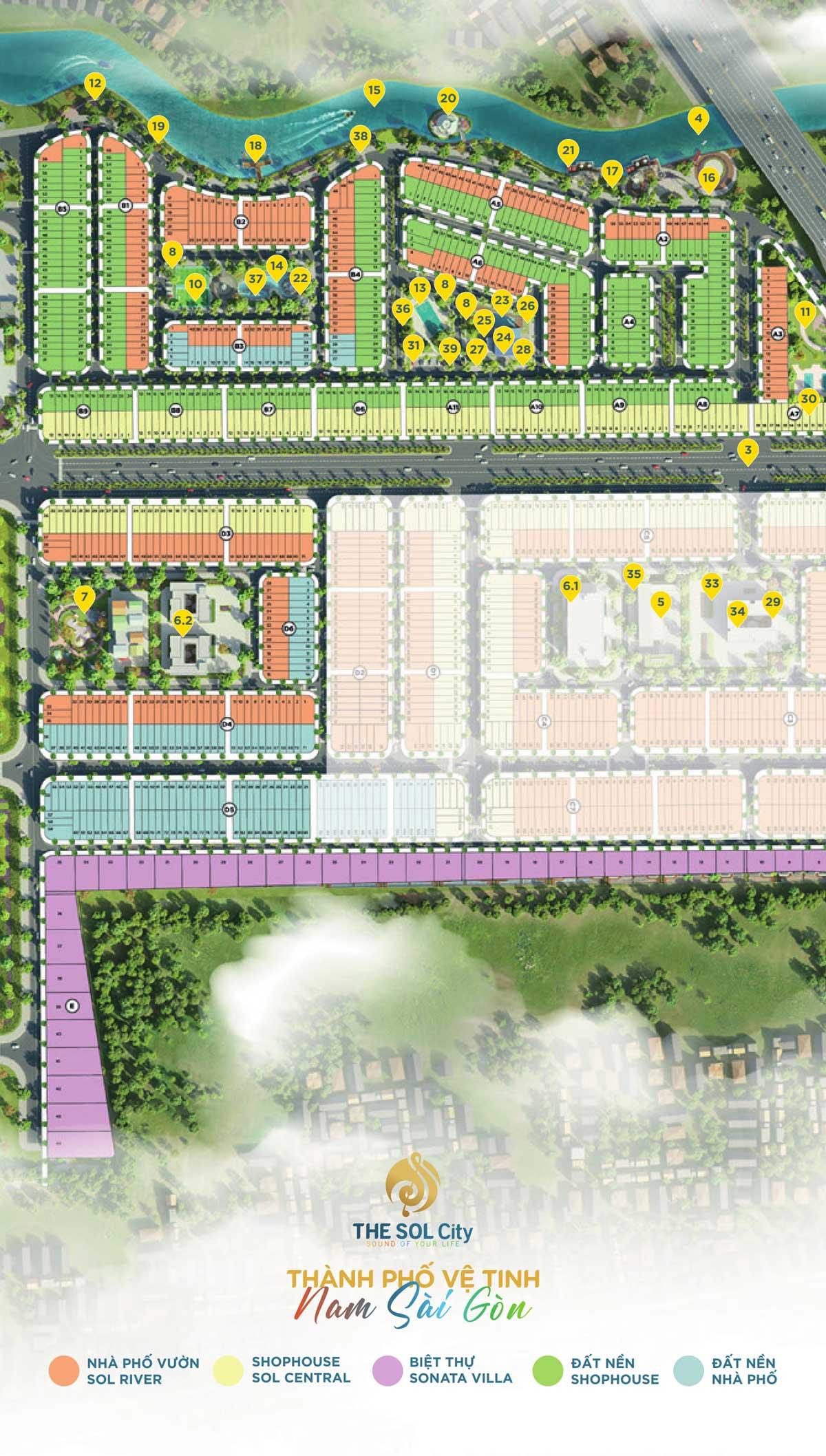 39 tiện ích thiết thực của dự án The Sol City
