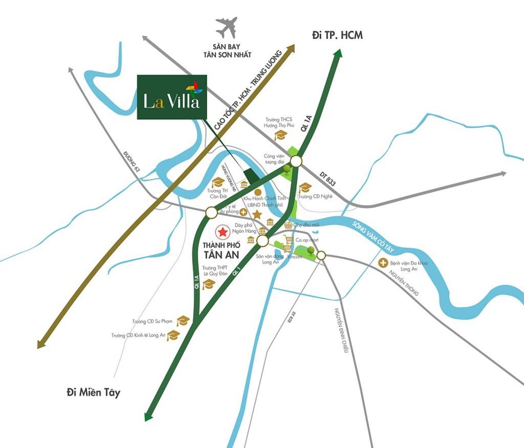 Vị trí dự án Lavilla Green City